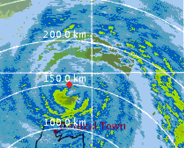 iCyclone - Position in Ernesto on Radar
